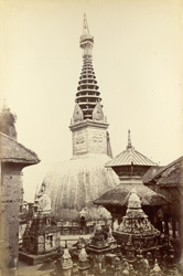 A Buddhist Temple at Sumboonath, 2 miles from Khatmandoo, date of erection unknown